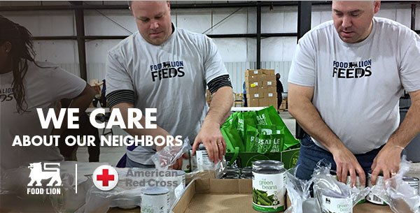 We Care About Our Neighbors - Food Lion | American Red Cross